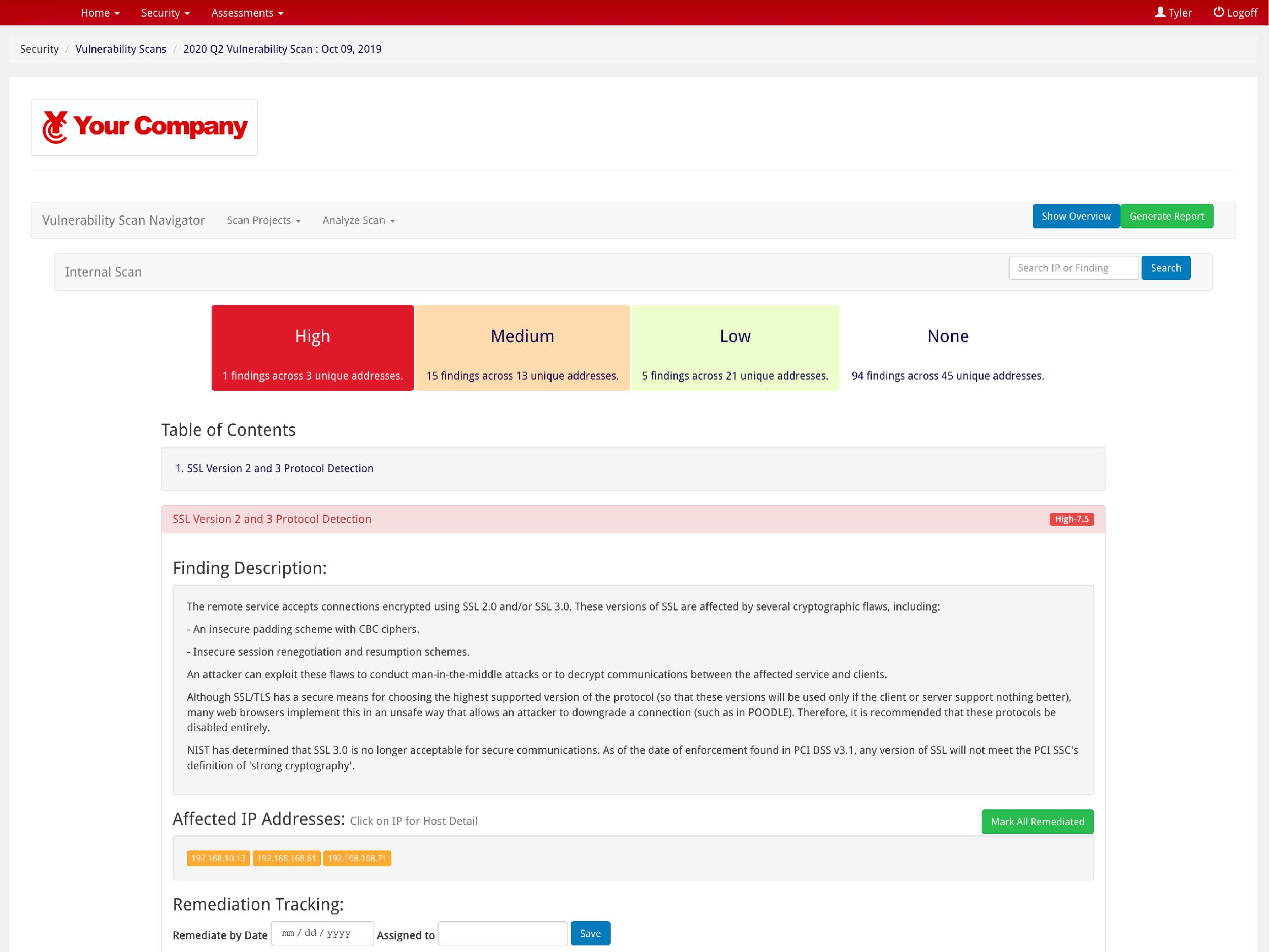 STN Cybersecurity Portal screen